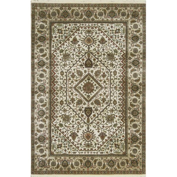 One-of-a-Kind Mountain King Hand-Knotted Wool Cream/Camel Area Rug by Bokara Rug Co., Inc.