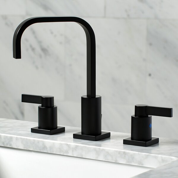 NuvoFusion Widespread Bathroom Faucet with Drain Assembly by Kingston Brass
