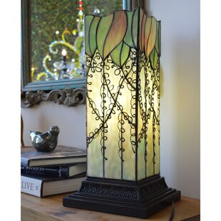 Affordable Crespo Lavish Vine Filigree Tiffany 17.63 Table Lamp By Fleur De Lis Living