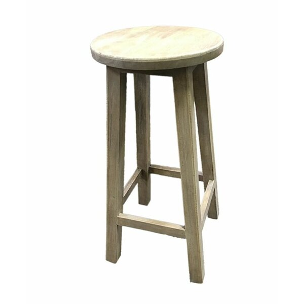 Kaushal Enthralling Wooden Accent Stool by Loon Peak