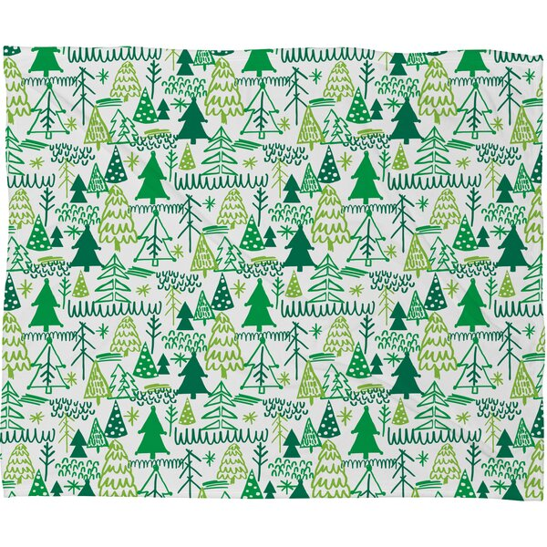 Zoe Wodarz Wonderland Forest Plush Fleece Throw Blanket by Deny Designs