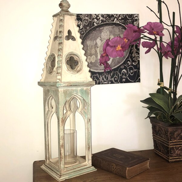 Church Wooden Lantern (Set of 2) by World Menagerie