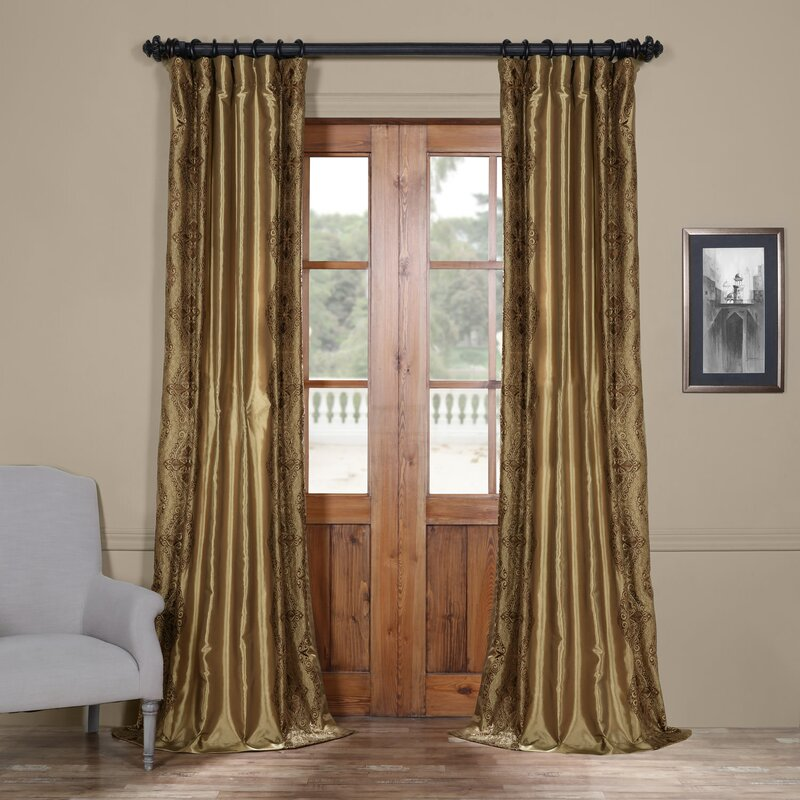 Chai Embroidered Single Curtain Panel