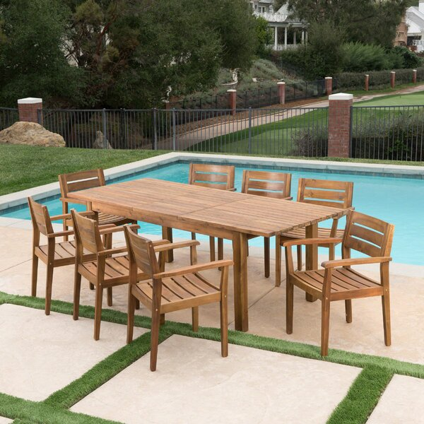 Mangrum 9 Piece Extendable Dining Set by Union Rustic