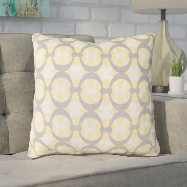 Clio Geometric Cotton Throw Pillow by Ivy Bronx