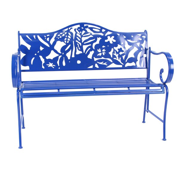 Ginter Iron Garden Bench by Bungalow Rose Bungalow Rose
