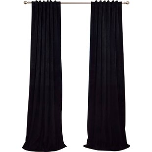 Black Industrial Curtain Rod