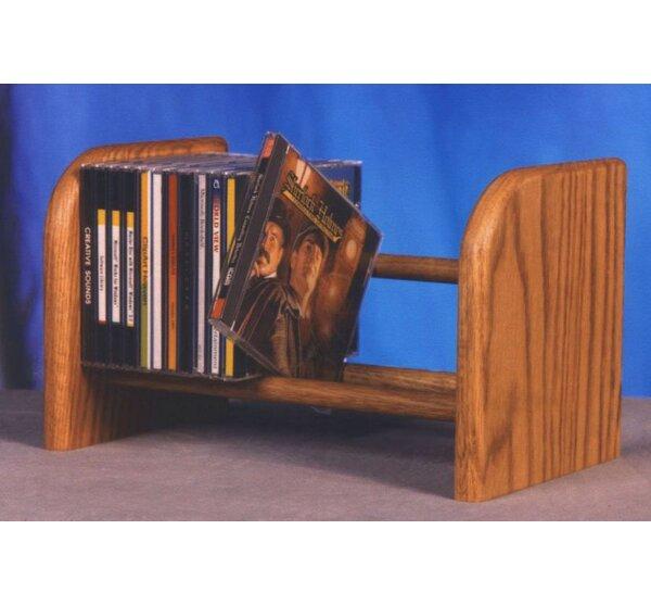 100 Series 26 CD Dowel Multimedia Tabletop Storage Rack by Wood Shed