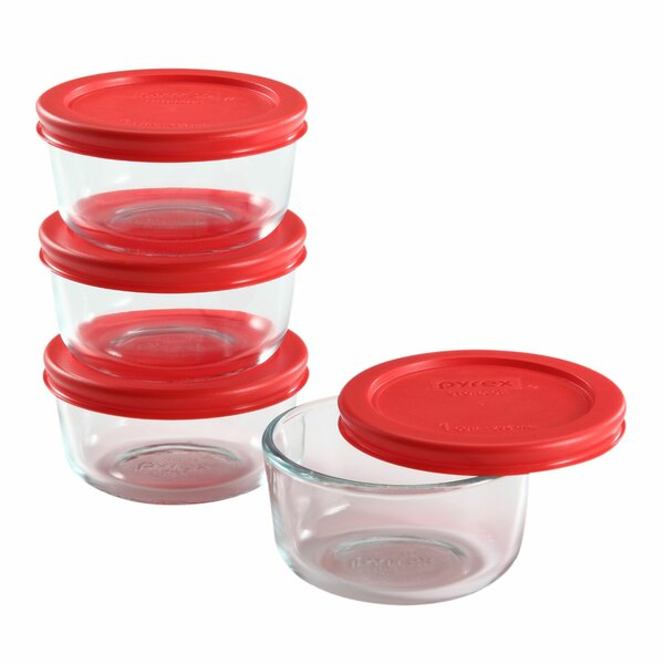 Simply Store Glass 4 Container Food Storage Set by Pyrex
