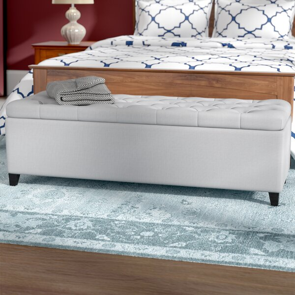 Amalfi Upholstered Storage Bench by Three Posts
