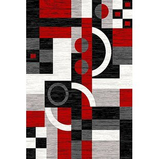 Cossey Red/Black Area Rug ByEbern Designs