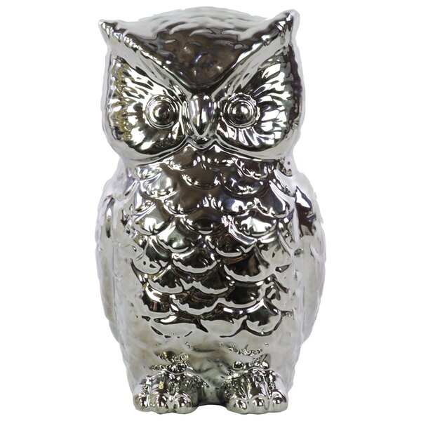 Ceramic Owl Gloss White by Urban Trends