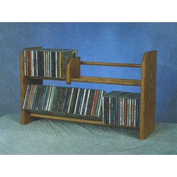 200 Series 110 CD Multimedia Tabletop Storage Rack by Wood Shed