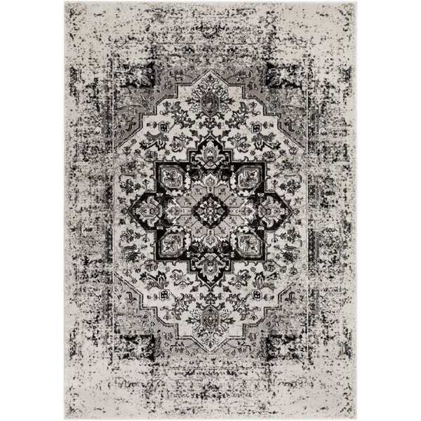 Randazzo Vintage Oriental Charcoal/Taupe Area Rug by Bungalow Rose