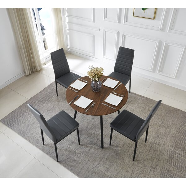 Seamon Round Table and Chairs 5 Piece Standard Height Dining Set by Corrigan Studio