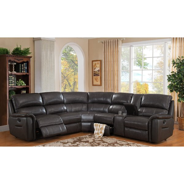 Camino Leather Reclining Sectional by HYDELINE