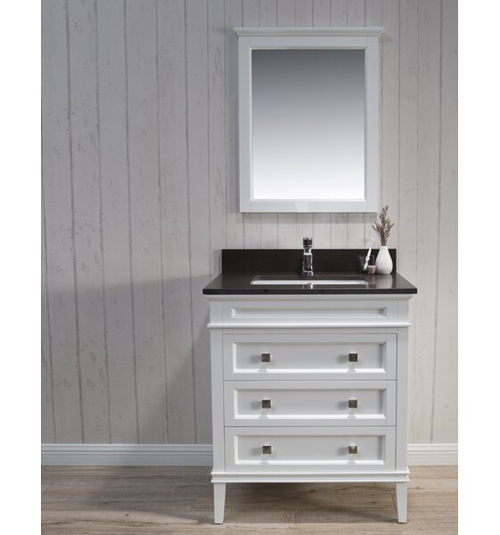 Briese Traditional 31 Single Bathroom Vanity Set with Mirror by Wrought Studio