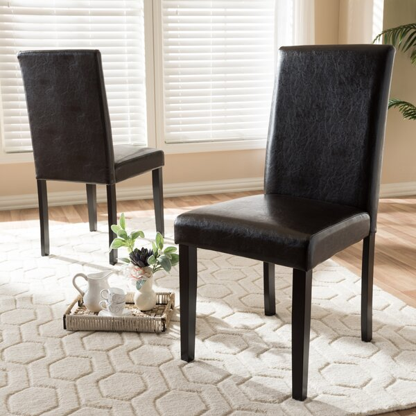 Brokaw Upholstered Dining Chair (Set of 2) by Ebern Designs