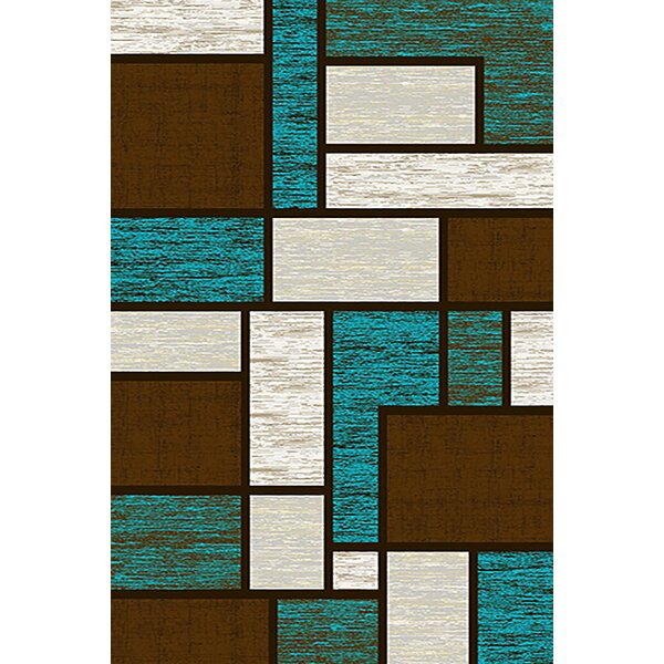 Mccampbell Blue/Brown Area Rug by Ivy Bronx