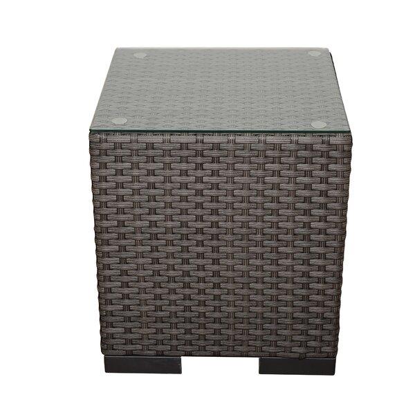 Kenesaw Bellagio Wicker Side Table by Ebern Designs