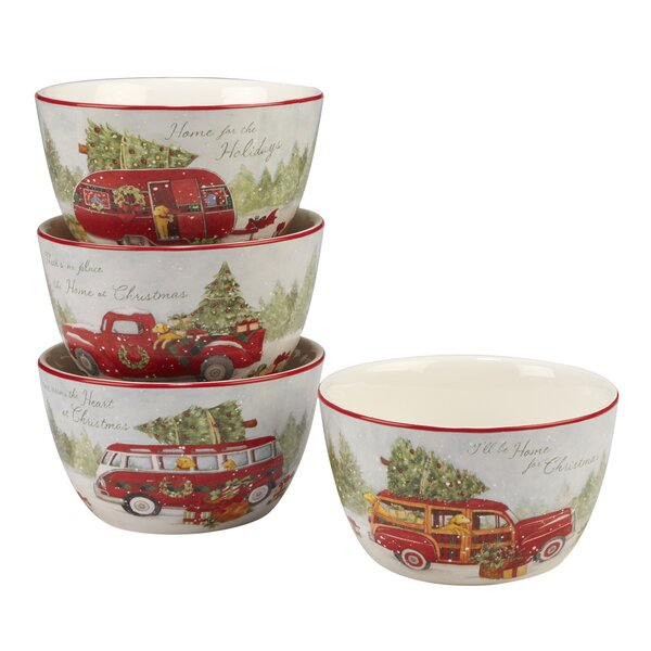 Esther 4 Piece 24 oz. Dessert Bowl Set by The Holiday Aisle