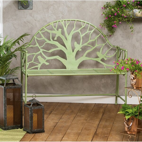 Iron Tree Garden Bench by August Grove