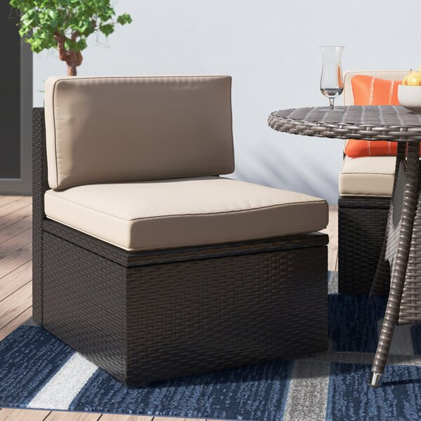 Mendelson Patio Dining Chair with Cushion by Brayden Studio