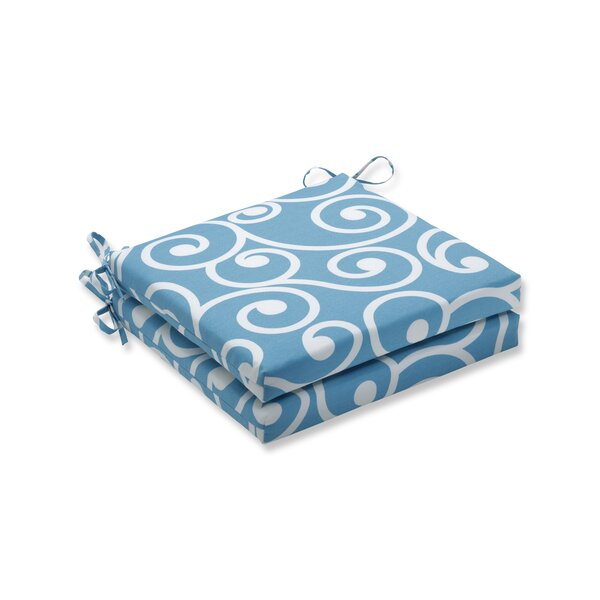 Turquoise Indoor Lounge Chair Cushion (Set of 2)