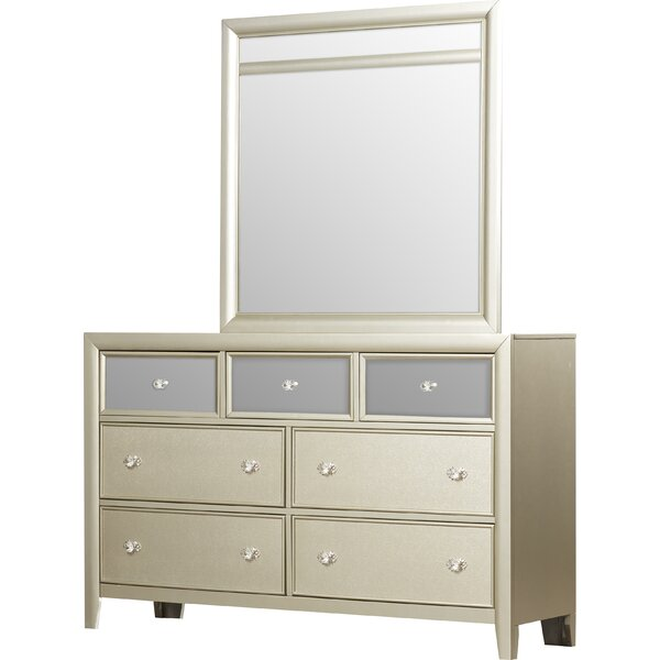 Gottfried 7 Drawer Dresser with Mirror by Willa Arlo Interiors