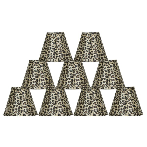 5 H Empire Lamp Shade ( Clip On ) in Leopard (Set of 9)