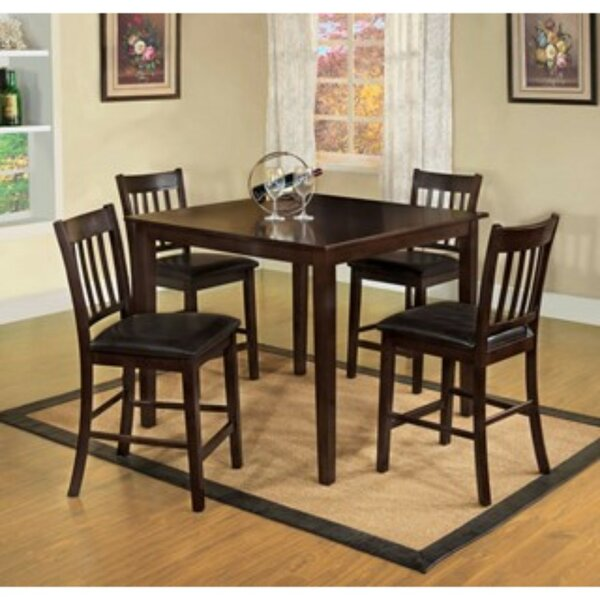 Timberlake 5 Piece Counter Height Solid Wood Dining Set by Winston Porter Winston Porter
