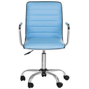 Geib Leather Desk Chair  sc 1 st  Wayfair & Navy Leather Desk Chair | Wayfair