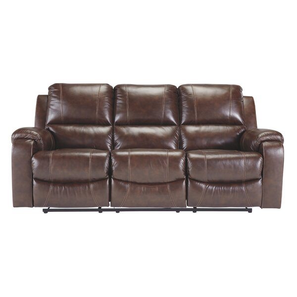 Dunmire Leather Reclining Sofa By Millwood Pines