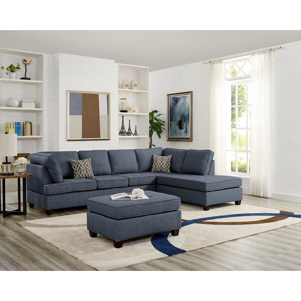 Nottingham Reversible Sectional with Ottoman by Wrought Studio