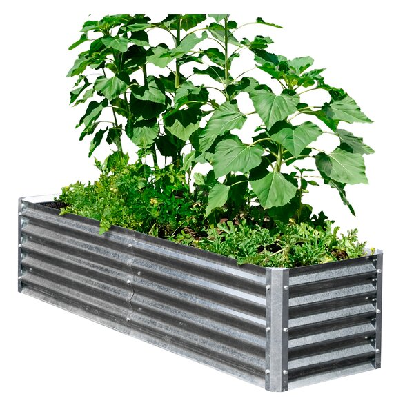 High Bundle 6.3 ft x 1.8 ft Galvanized Steel Raised Garden by EarthMark
