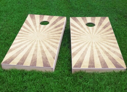 Sunburst Cornhole Game (Set of 2) by Custom Cornhole Boards