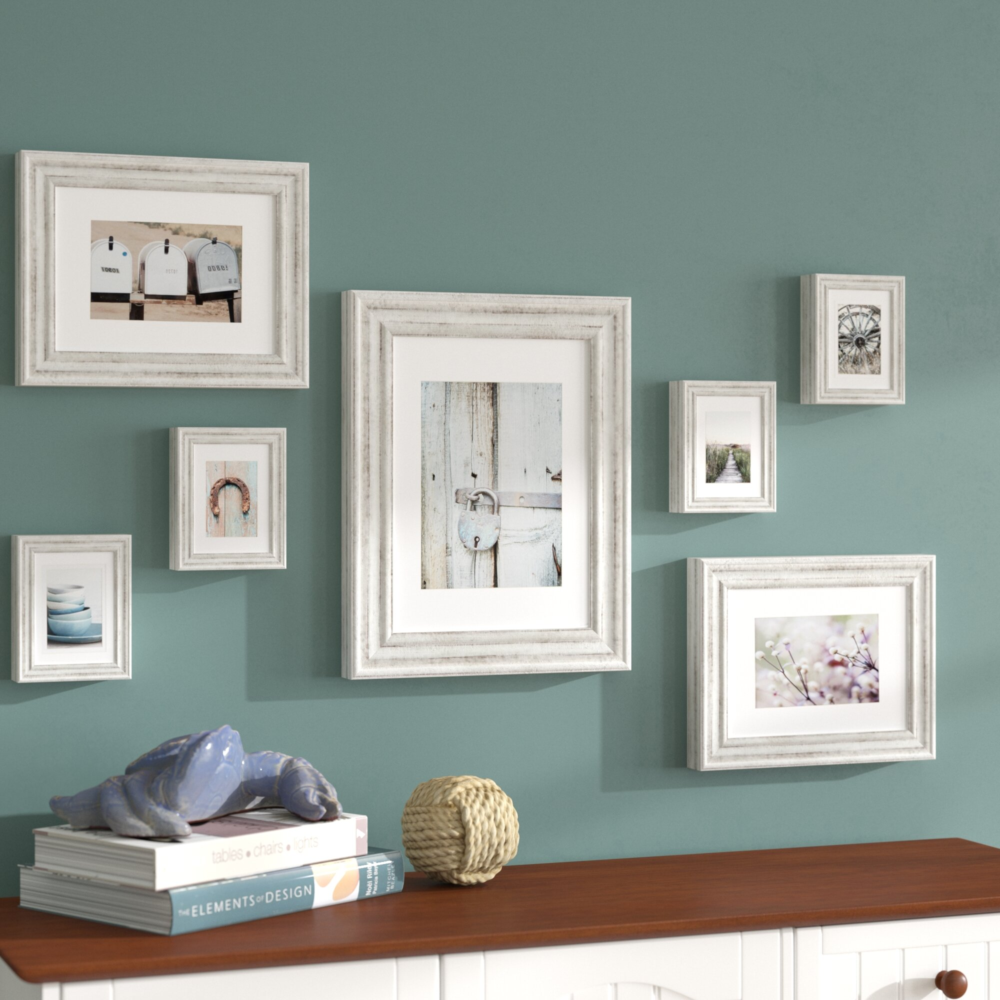 Beachcrest Home Clemence 7 Piece Mixed Profile Picture Frame Set ...