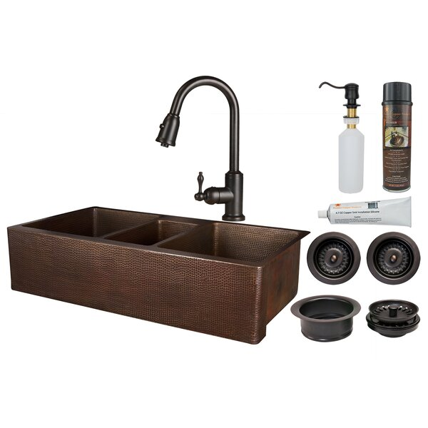 42 L x 22 W Farmhouse Kitchen Sink with Faucet