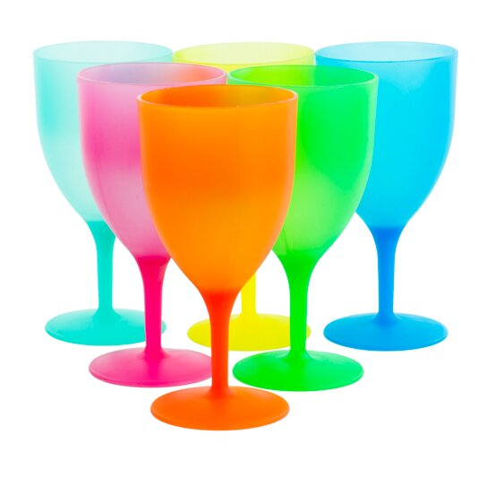 Harris 6 Piece Colorful Party Goblets by Ebern Des