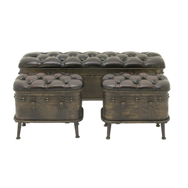 Currie Metal Storage Bench by Breakwater Bay