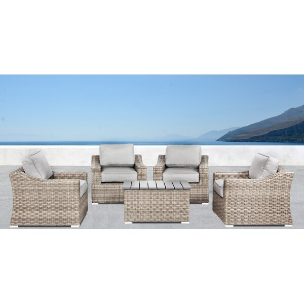 Dayse 5 Piece Seating Group with Cushions by Sol 72 Outdoor