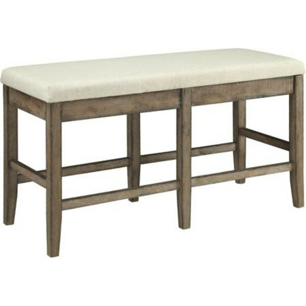 Barbara Upholstered Solid Wood Counter Height Bench by Ophelia & Co.