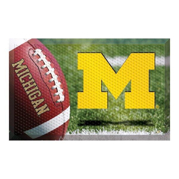 University of Michigan 30 in. x 19 in. Non-Slip Outdoor Door Mat