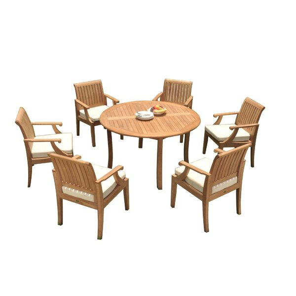 Kurt 7 Piece Teak Dining Set by Rosecliff Heights