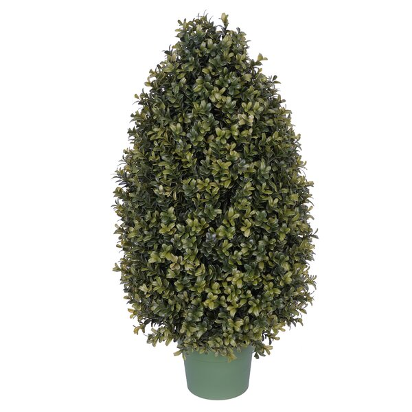 Artificial Tower Floor Boxwood Topiary in Pot by Alcott Hill