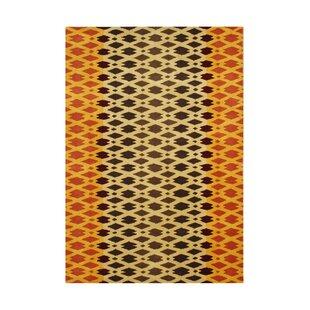 Winchester Hand-Tufted Orange/Black Area Rug ByThe Conestoga Trading Co.