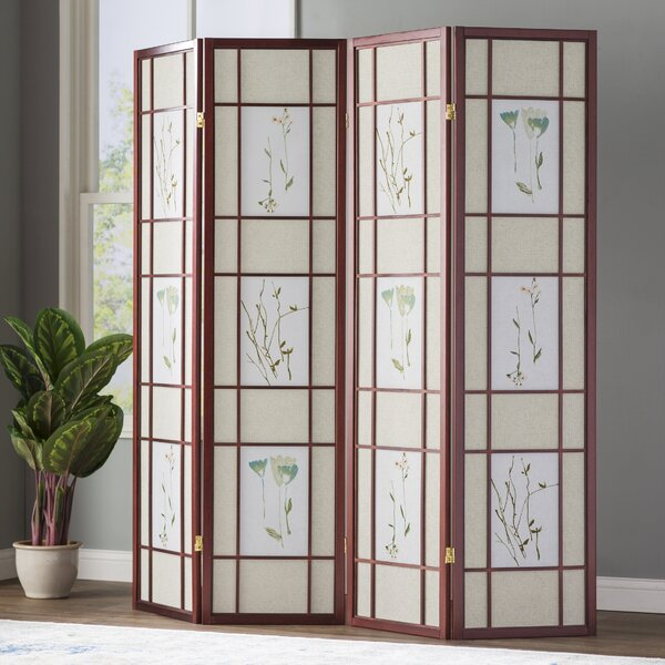 Pothier Gia 4 Panel Room Divider by World Menagerie