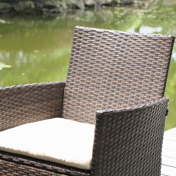Northville 4 Piece Wicker Conversation Set with Cushions by Mistana
