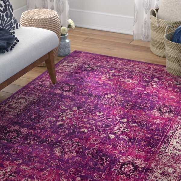Neuilly Lilac/Violet Area Rug by Mistana