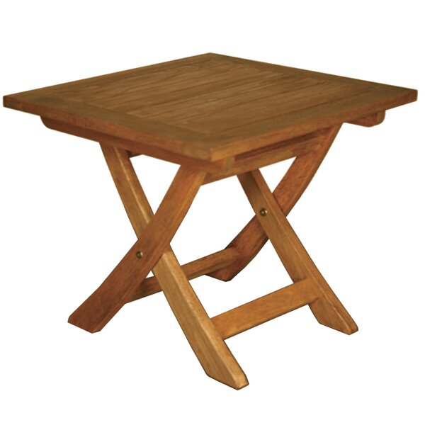 Terrace Mates Aspen Folding Square Side Table by Blue Star Group